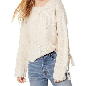 ✨NWT BB Dakota All Tied Up Lace Up Knit Sweater